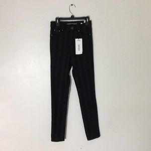 Zara Black Striped Denim Jeans